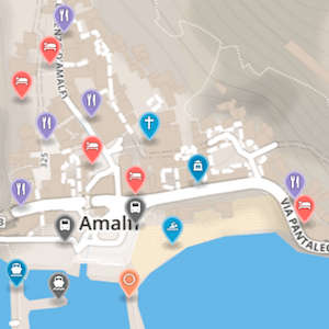 Map of Amalfi Coast