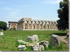 The Temples of Hera and Neptune at Paestum. (Photo courtesy of Chiara Marra.)