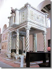 One of the two pulpits in the Ravello Duomo