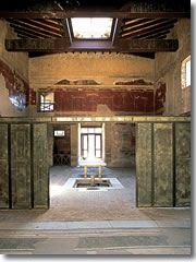 The House of the Wooden Partition at Herculaneum.