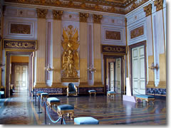 The Throne room in the Caserta Palace.