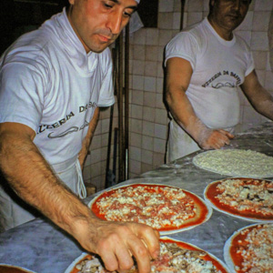 Pizzeria Da Baffetto Restaurant in Rome, Italy