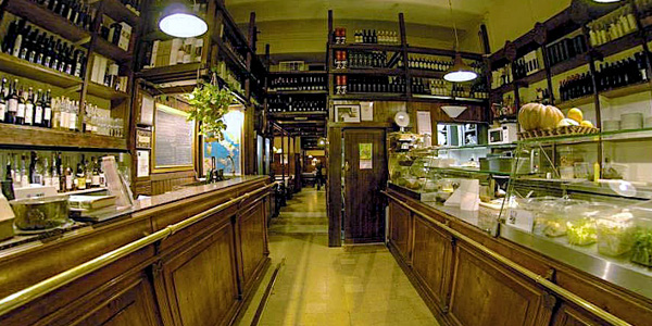 Cavour 313 wine bar and restaurant in Rome, Italy