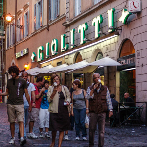 Gelateria Giolitti ice cream parlor in Rome, Italy