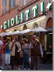 Ice cream cones from Rome's storied gelateria Giolitti