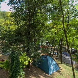 The campground at the Flaminio Village Bungalow Park, Rome