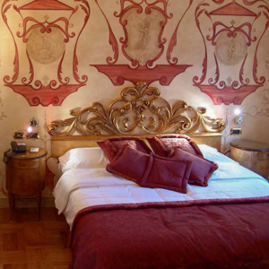 A room at the Hotel Sant'Anselmo in Rome, Italy