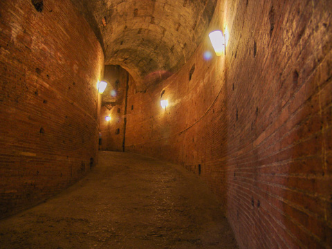 Ancient corridor in Castel Sant'Angelo, Rome
