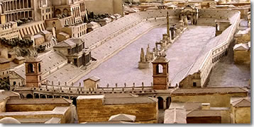 A model of the Circus Maximus in its prime.