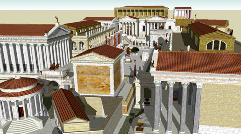 The roman forum foro romano in rome italy roman forum arch of septium severus and temples malvernweather Images