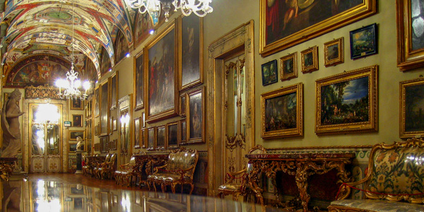 A typical room in the Galleria Doria Pamphilj, Rome
