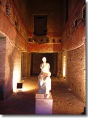 Statue in Nero's Domus Aurea.