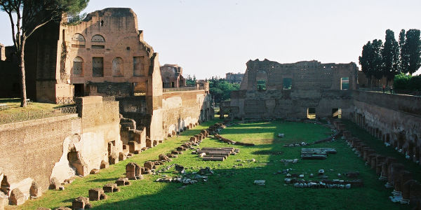 The Domus Severiana, once owned by Septimus Severus, on Rome's Palatine Hill
