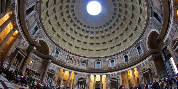 The interior of the Pantheon in Rome