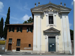 Rome's church of Santa Maria in Palmis, better known as Quo Vadis, on the Appian Way.
