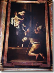 Caravaggio's Madonna del Loreto in Rome's church of Sant'Agostino