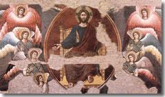 The Last Judgment by Pietro Cavallini in Rome's Santa Cecilia in Trastevere.