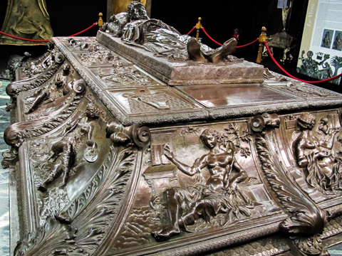 The Reanissance tomb of Sixtus IV by Antonio Pollaiuolo in St. Peter's Treasury Museum