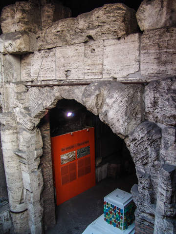 An anciect arch under Piazza Navona