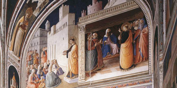Beato Angelico freosced the Capella Niccolinia, or Chapel of Nicholas V, in the Vatican