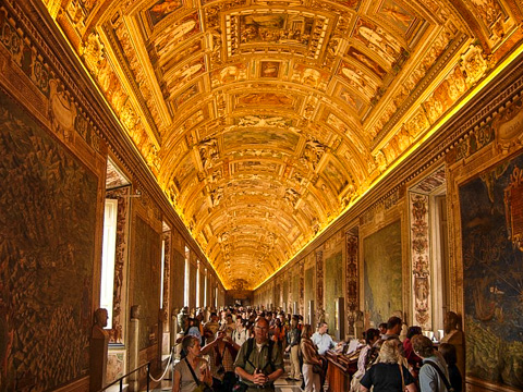 The Map Gallery in the Vatican Museums