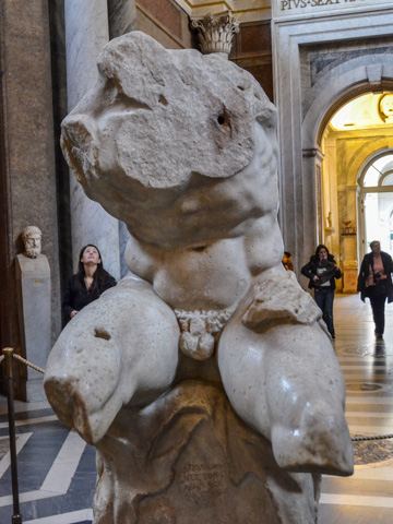 The 1st century BC Belvedere Torso in the Vatican's Pio Clementino Museum (Photo by Richard Mortel)