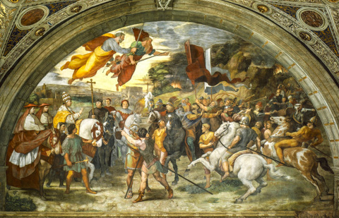 Raphael's The Meeting of Leo the Great and Atilla the Hun in the Vatican Museum's Stanza di Eliodoro
