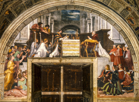 Raphael's The Mass at Bolsena in the Vatican Museum's Stanza di Eliodoro