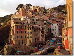 The port of Riomaggiore