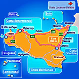 Map of Sicily hotels