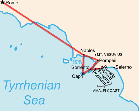 Italy itinerary: Rome & Campania in 1 week