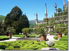 The gardens at Isola Bella