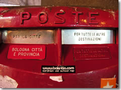 A typical Italian mailbox.