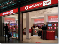 A Vodaphone store in the Rome airport