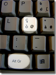 How to get an @ on a foreign keyboard