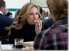 JUlia Roberts eating pizza in Naples in Eat Pray Love (2010)