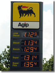 Gas prices are high in Italy