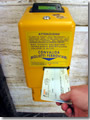 "Use the yellow machiens labelled ""convalidare biglito"" to stamp your ticket on Italian trains."