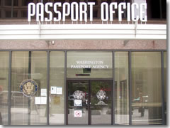 The passport office in Washington, DC