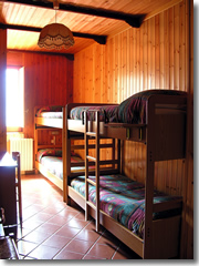 A bunk room at the Rifugio Orestano in Sicily.
