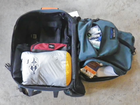Fully packed bag