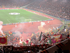 The Curva Sud at a Roma game.