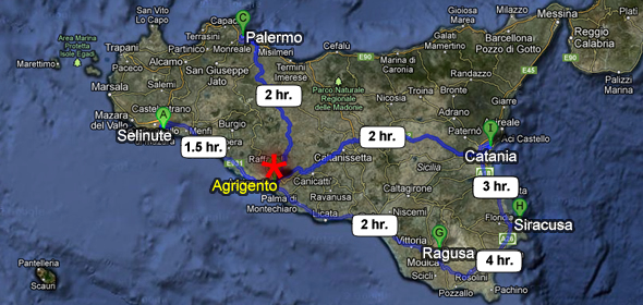 Agrigento Italy Map.How To Get To Agrigento Agrigento