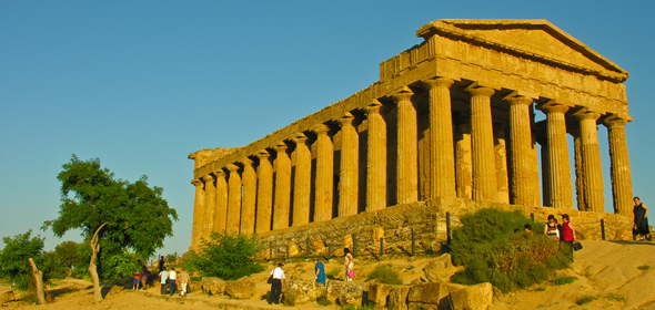 The ancient Greek Temple of Concordia, 5th C. BC, in Agrigento's Valley of the Temples