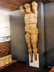 The massive telamon in Agrigento's Archaological Museum.