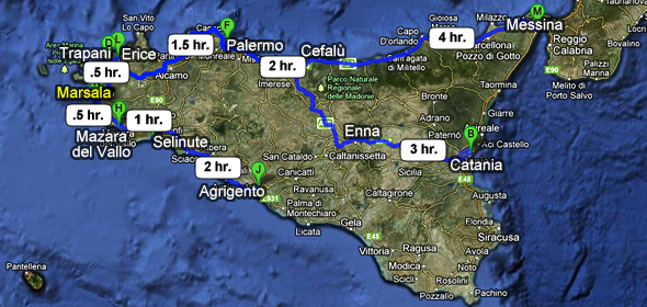 How to get to Marsala Sicily