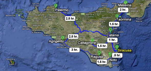 How To Get To Siracusa Italy