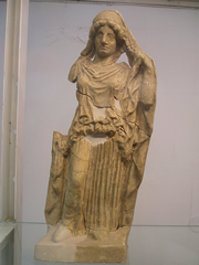 A veiled statuette of Hera at the Museo Archeologico di Naxos