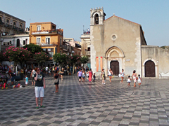 The ex-church of Sant-Agostino on Piazza IX Aprile, Taormina.