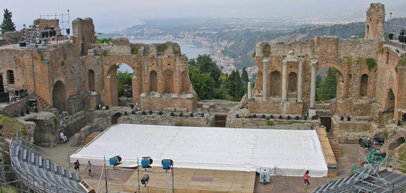 The teatro greco of Taormina